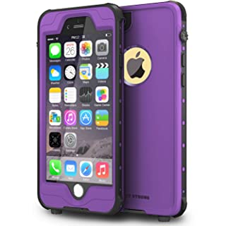 """ImpactStrong iPhone 6 Plus 5.5 inch Waterproof Case [Fingerprint ID Compatible] Slim Full Body Protection for Apple iPhone 6 Plus & 6s Plus (5.5"""") - Purple"""
