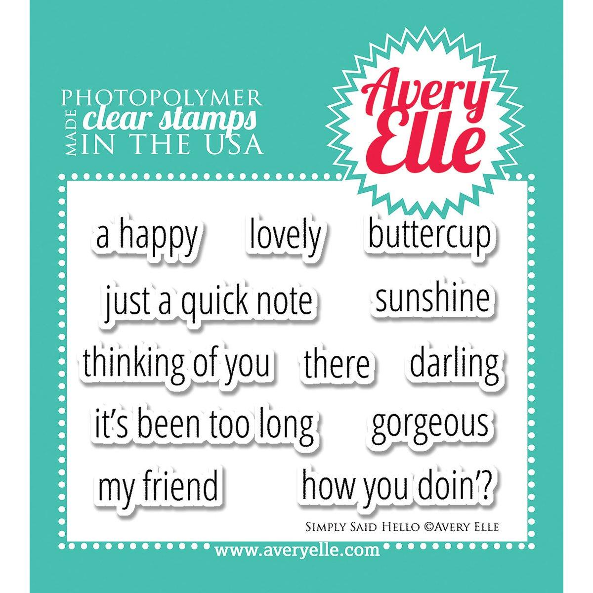 Avery Elle Stamp Set - Simply Said Hello