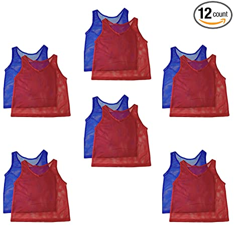 71780c7e9908 Adorox 12 Pack Adult - Teens Scrimmage Practice Jerseys Team Pinnies Sports  Vest Soccer