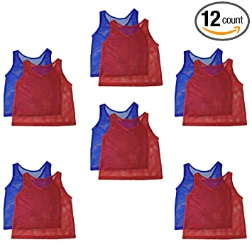 buy popular 62b47 70af1 Adorox Adult - Teens Scrimmage Practice Jerseys Team Pinnies Sports Vest  Soccer, Football, Basketball, Volleyball
