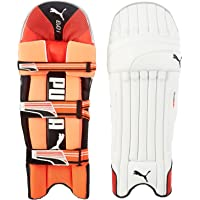 Puma, Cricket, Evo-1 Batting Pad, Fiery Coral/White, Right Hand