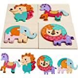 Comius Sharp Puzzles de Madera Juguetes Bebes, Rompecabezas de Madera Juguetes Niños 1 2 3 + Años, Juguete Educativo…