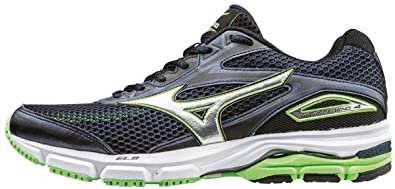 Mizuno Men s Wave Legend 4 Running Shoes Dress Blues Silver Green Gecko bbd74da2762