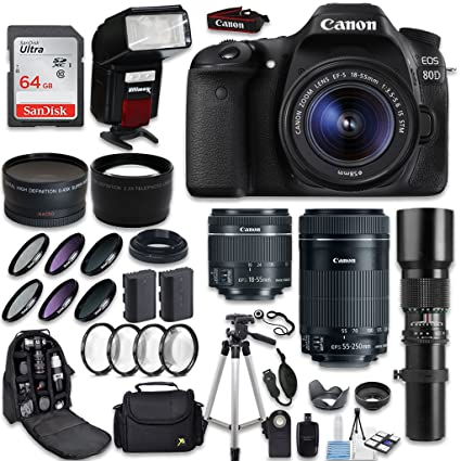 The 8 best canon eos 80d dslr camera 2 lens bundle
