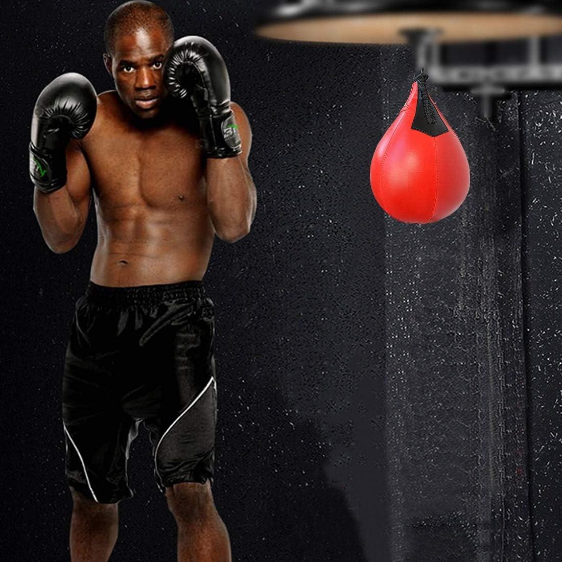 Qianbo Balle de Speed-Boxing Balle dEntra/înement Sac de Vitesse Frappe Gonflable /à Suspendre Speedball Poires de Vitesse de Boxe
