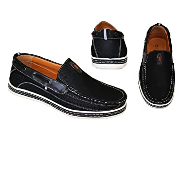 Frenchic Collections Men's Slip-On Loafers (7.5 D(M) US, Black