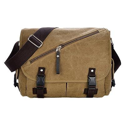 Water Resistant Messenger Bag Crossbody Sling Bookbag Briefcase Fits 12 Inch Laptop for Men and Women