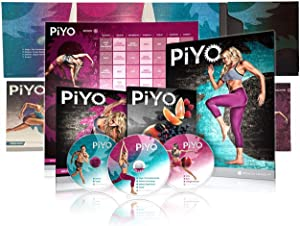 FGHM PiYo Base Kit 5 DVDs- Pilates Yoga Workouts Fitness Program -Workout with Exercise Videos + Fitness Tools and Nutrition Guide