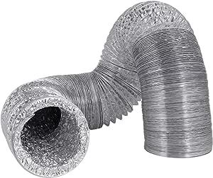 Hon&Guan Manguera Flexible de Ventilación de Aluminio Tubo Salida Aire para Baño, Kitchen Campana(ø150mm*2m,Plata): Amazon.es: Hogar