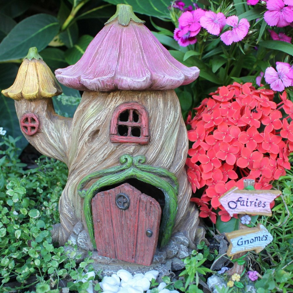 """Fairy Garden House Accessories Kit – Miniature Fairy Figurines – 7"""" High House – Door can open wide – Supplies by Pretmanns by Pretmanns (Image #6)"""