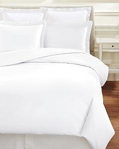 Melange Home 186679 Linen and Cotton Duvet Set, Full/Queen Sized, White