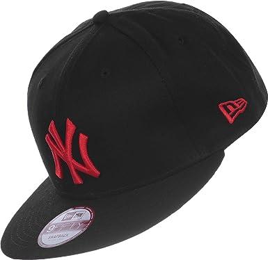 60e8d3a8c67 New Era New York NY Yankees MLB Black Red Seasonal Basic 9Fifty Snapback  Adjustable Baseball Cap Size M L  Amazon.co.uk  Clothing