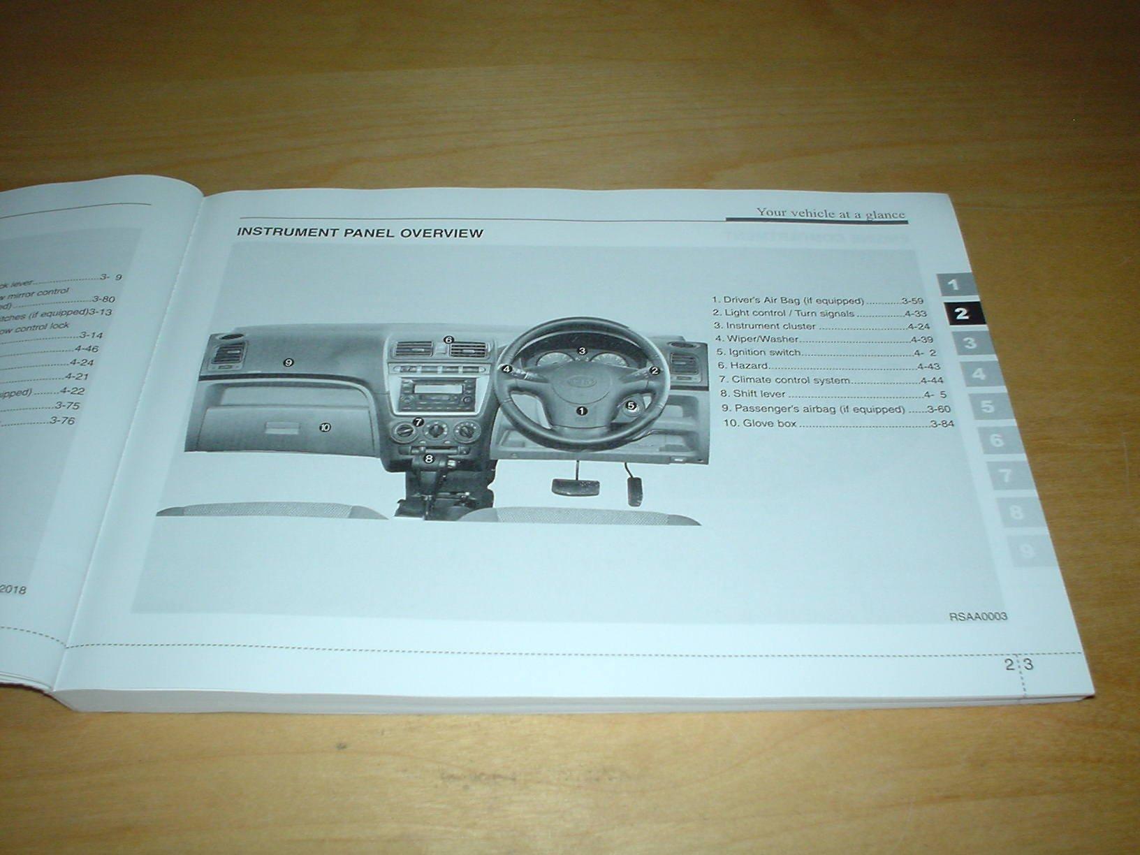 Kia Picanto Handbook - All About Kia