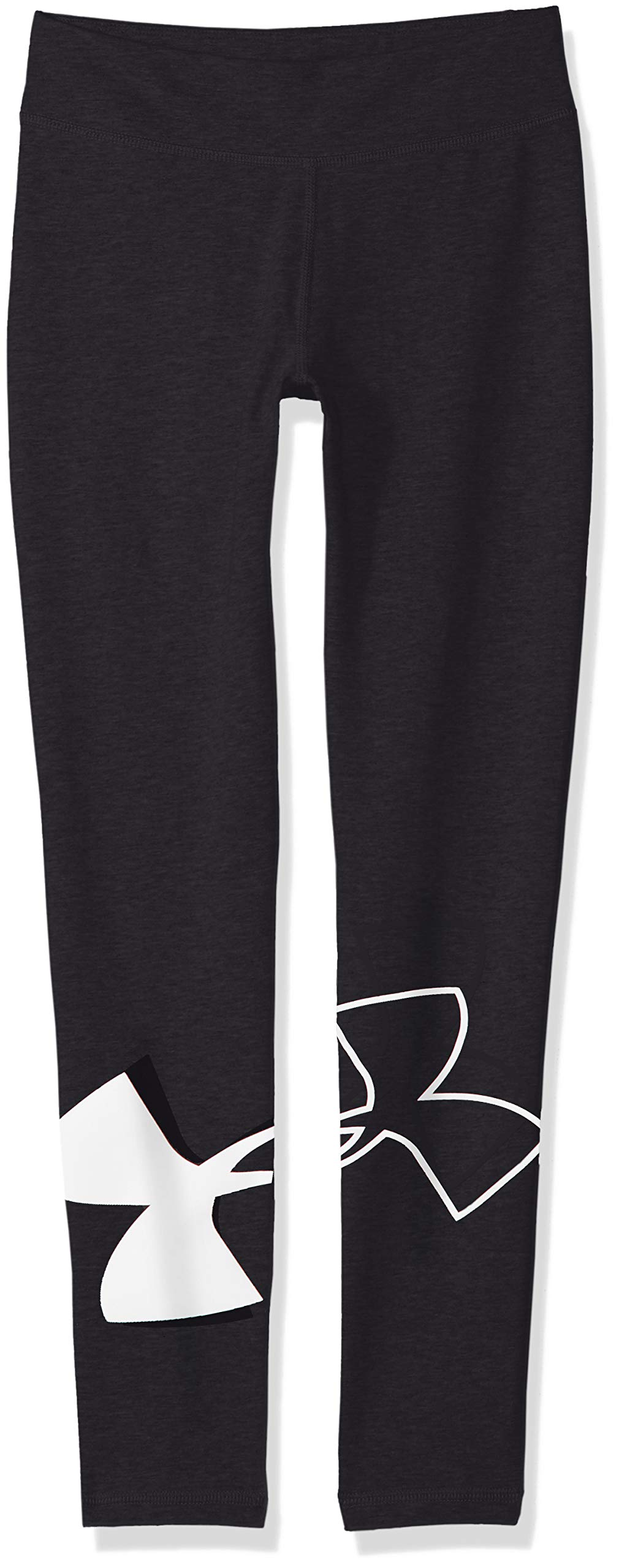 Under Armour Kids Girl's Favorite Knit Leggings (Big Kids) Black/White X-Small by Under Armour
