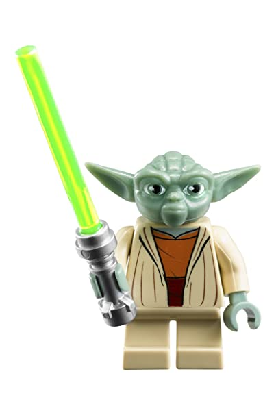 amazoncom lego star wars yoda kids buildable watch with link bracelet and minifigure greengray plastic 28mm case diameter analog quartz boy girl - Lego Yoda