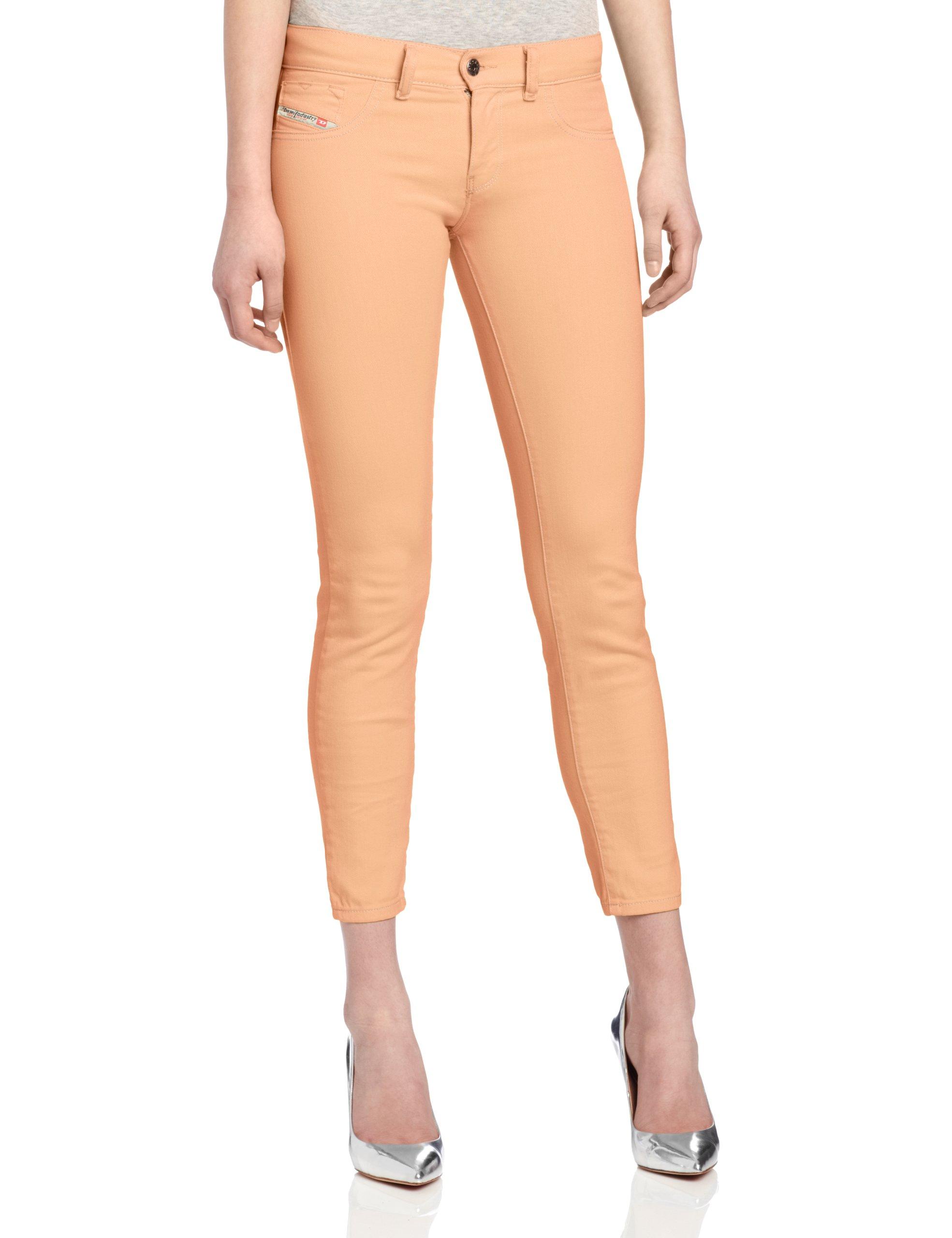 Diesel Women's Livier Super-Slim Legging Jean 0661V, Peach, 29
