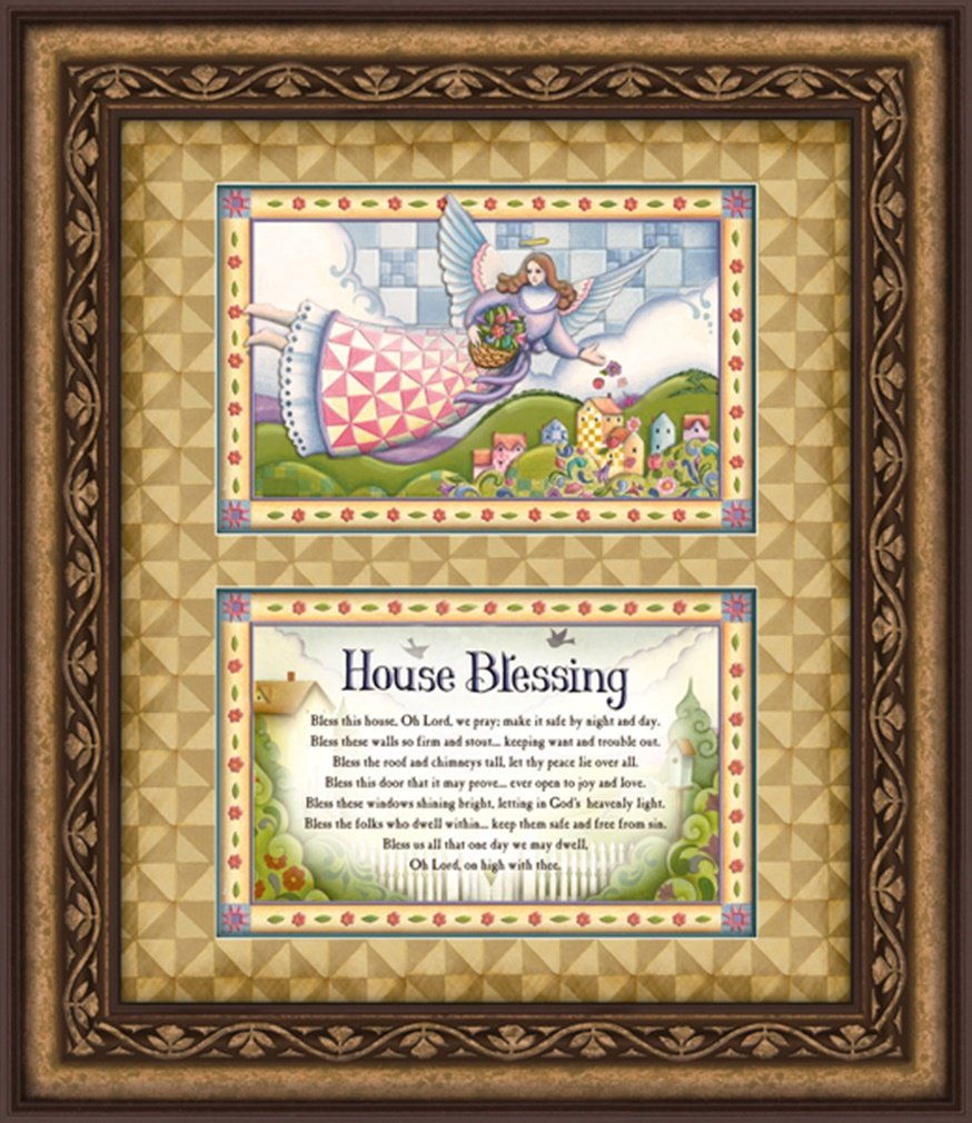 Jim Shore Design House Blessing Framed Wall Art, 22 Inch by Jim Shore Design