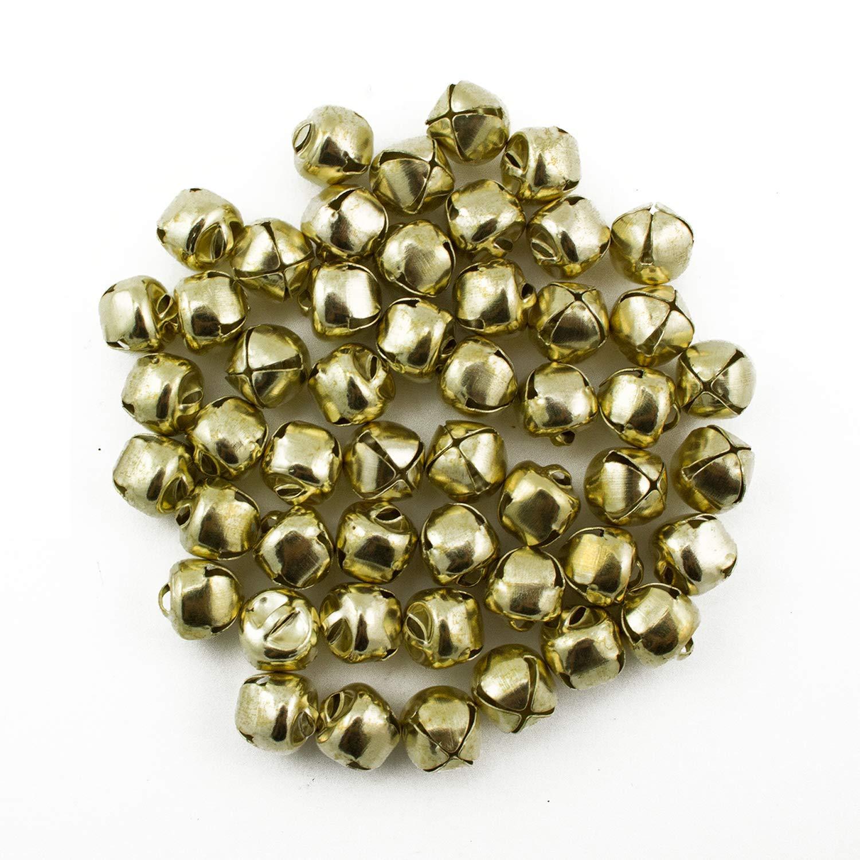 3/8 Inch 10mm Gold Small Jingle Bells Bulk 150 Pieces Art Cove