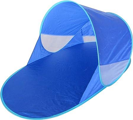 Kiddus Tienda Carpa Refugio de Playa. 100% Proteccion Rayos UV, Pop up automontable y Plegable. Paravientos. Tela Muy Ligera, Ideal para Proteger del Sol niños y Bebés (Tienda Carpa): Amazon.es: Deportes y