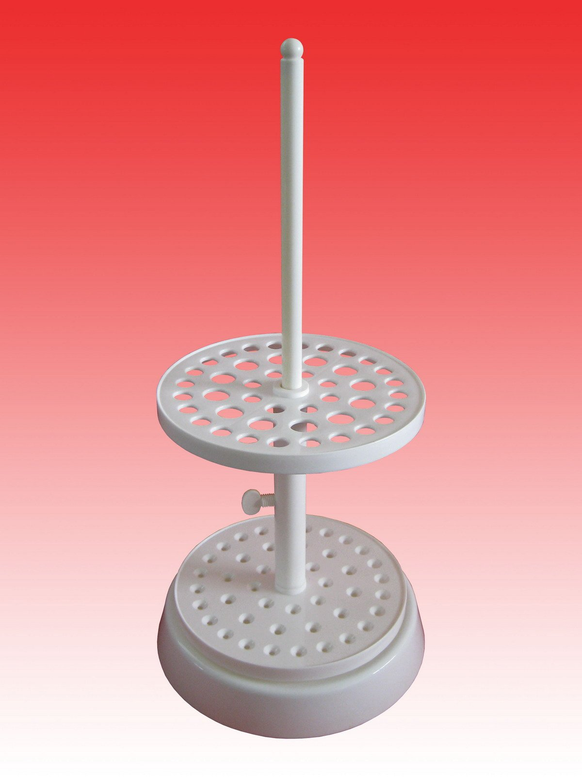 Beyondsupply-44 Place Plastics Round Polymethyl Pipette Pipettor Stand With Base by beyondsupply