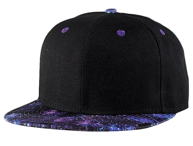 Aivtalk - Negro Hip Hop Sombrero Estampado Plano Gorra de Béisbol Moda  Accesorio Ajustable para Mujer Hombre  Amazon.es  Ropa y accesorios d8663fe601a