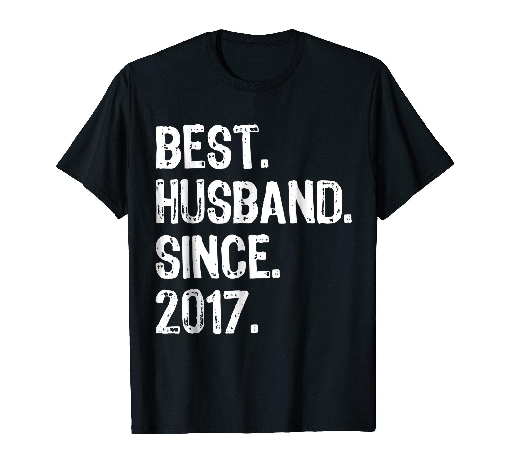 Best Husband Since 2017. 1st Wedding Anniversary T-Shirt
