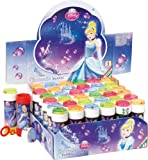 Box of Childrens Girls Cinderella Princes Bubbles Pots Party Bag Stocking Fillers Garden Toys Games (10 Pots)