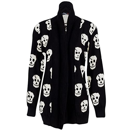 Women/'s Ladies Owl Print Knitted Long Sleeve Jumper Open Cardigan Plus Size 8-26