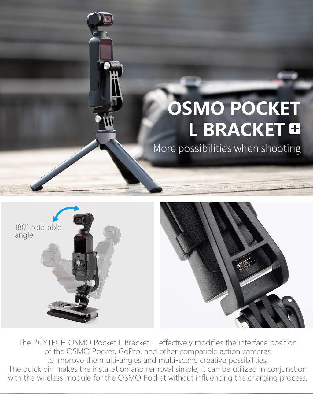 //1//4 thred Adapter//Data Porta per Il Montaggio per OSMO Pocket Caldo Karruier PGY Universal L Staffa