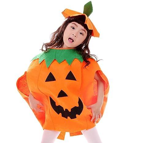 prodotti di qualità all'ingrosso online fascino dei costi JT-Amigo Costume da Zucca, Bambini e Bambine, Travestimenti Halloween  Carnevale, 6-7 Anni