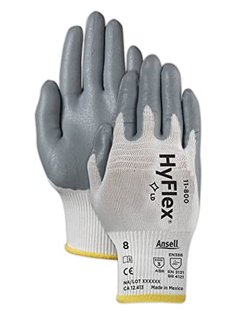 Ansell 11-800 Hyflex Palm Coated Gloves Size 6 12 Pair