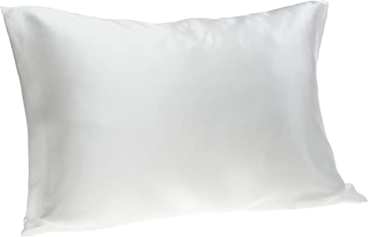 Silk Soft Pillow Cover Case for Beauty of Hair and Face Soft Gift White