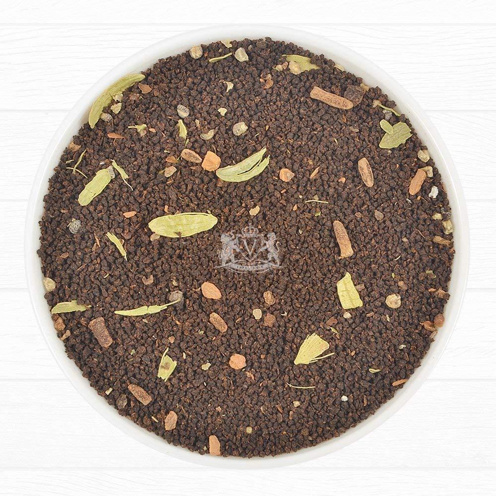 India's Original Masala Chai Tea Loose Leaf (200+ Cups) | 100% NATURAL INGREDIENTS | Black Tea, Cinnamon, Cardamom, Cloves & Black Pepper | Brews Chai Latte | Ancient Indian House Recipe | 16oz Bag by VAHDAM (Image #9)