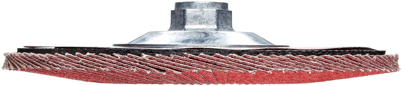 Ceramic Aluminum Oxide 60 Grit Phenolic Backing Threaded Hole Type 29 Weiler Saber Tooth Abrasive Flap Disc 7 Dia. Pack of 1