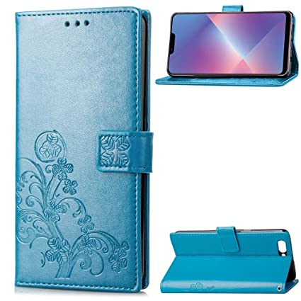 best service fbf14 d3455 Amazon.com: Find box Oppo A5 Case, [Leaf Embossing] [Wallet Stand ...