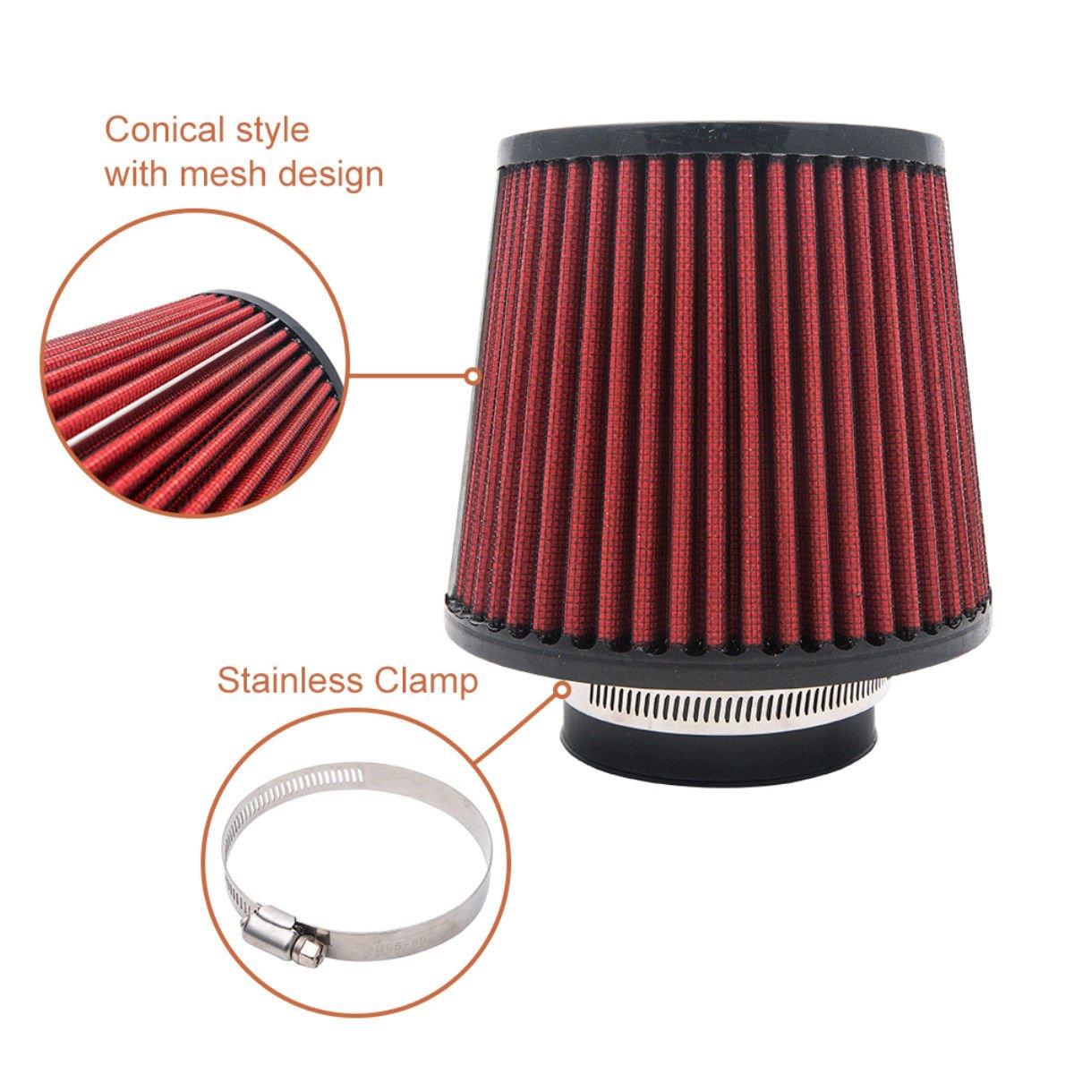 Auto filtro aria/ /Maso universale 9,9/cm 100/mm Collo schiuma cono induzione kit aspirazione aria filtro