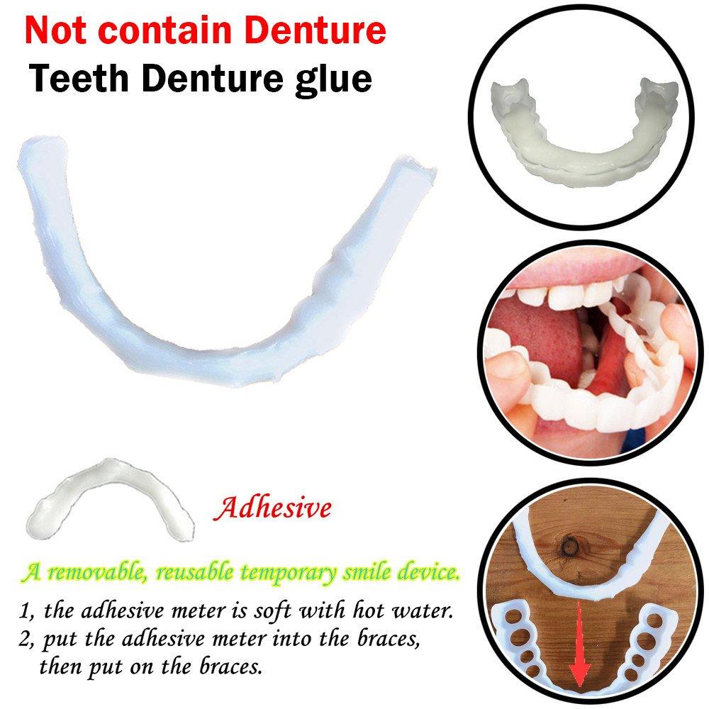 Inkach Denture Teeth Glue - Temporary Cosmetic Upper Teeth Veneer Teeth Whitening Denture Model Gel (white) by Inkach- (Image #2)