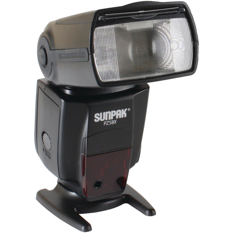 SUNPAK PZ58XN Pz58x Flash for Nikon DSLR (Black)