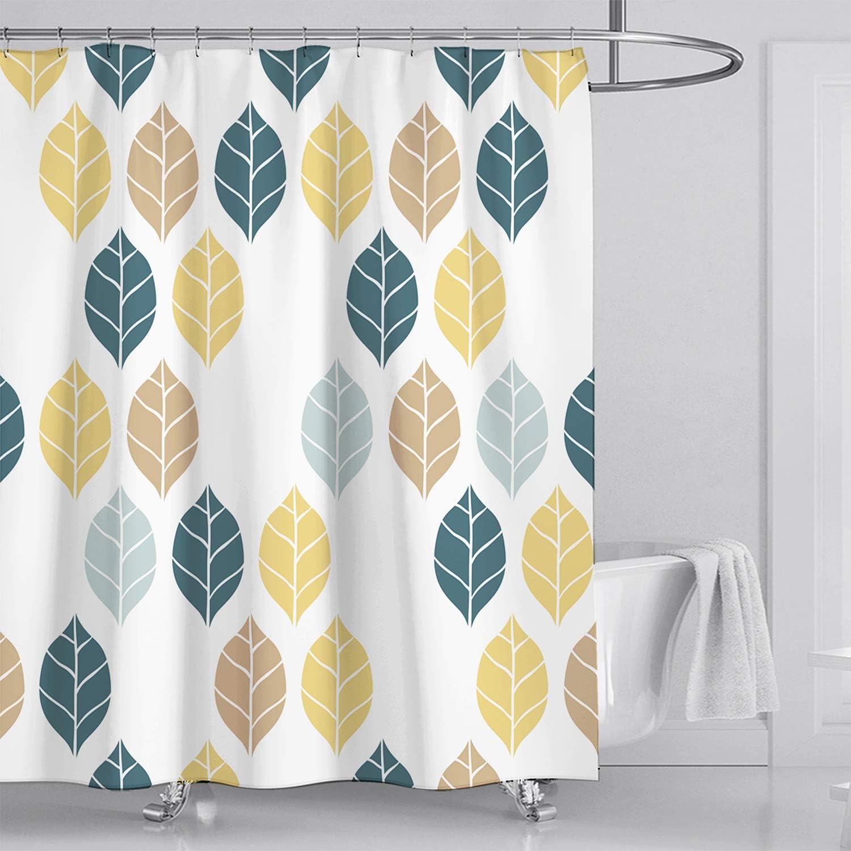 Amarillo gruesas Fuloon Cortinas de ducha de tela resistente al agua poli/éster 72x72 para ba/ñeras y ba/ñeras 182,88 x 182,88 cm