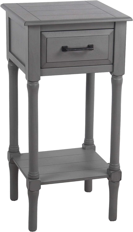 - Amazon.com: Privilege 1 Drawer Vendee Gray Accent Table: Kitchen
