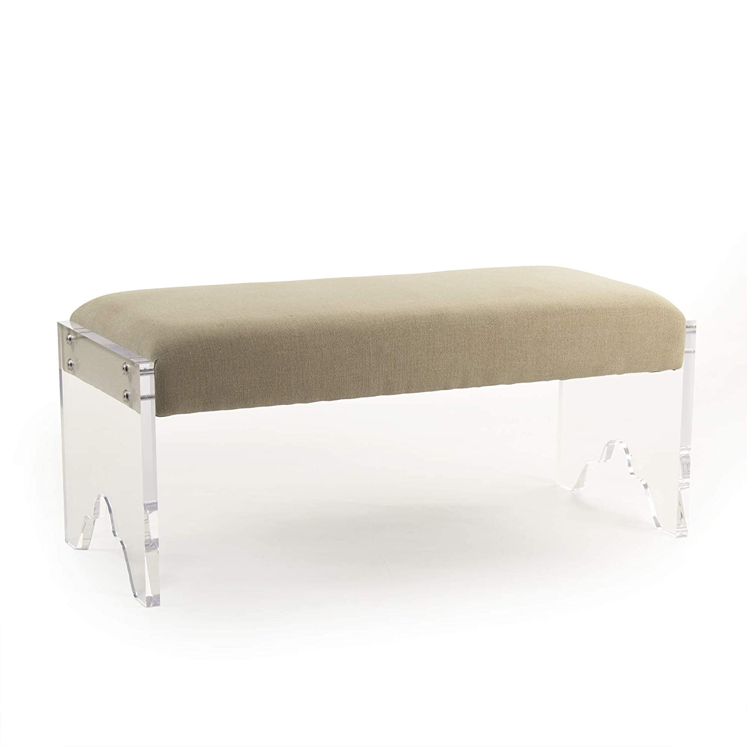 Amazon.com: Zentique ZMA013 Addie Bench, Natural Linen ...