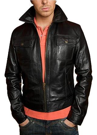 13e0c1ae38 LeatherJacket4 Meaux Bomber Men's Lamb Full Grain Soft Leather ...
