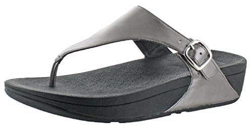 FitFlop Women's The Skinny Flip Flop, Pewter, 11 M US