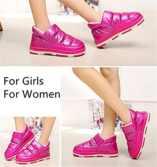 Polliwoo Cómodo Zapatillas de algodón Térmica Vellocino Zapatos para mujer, Pink, 37/38 EU 6-6.5 UK
