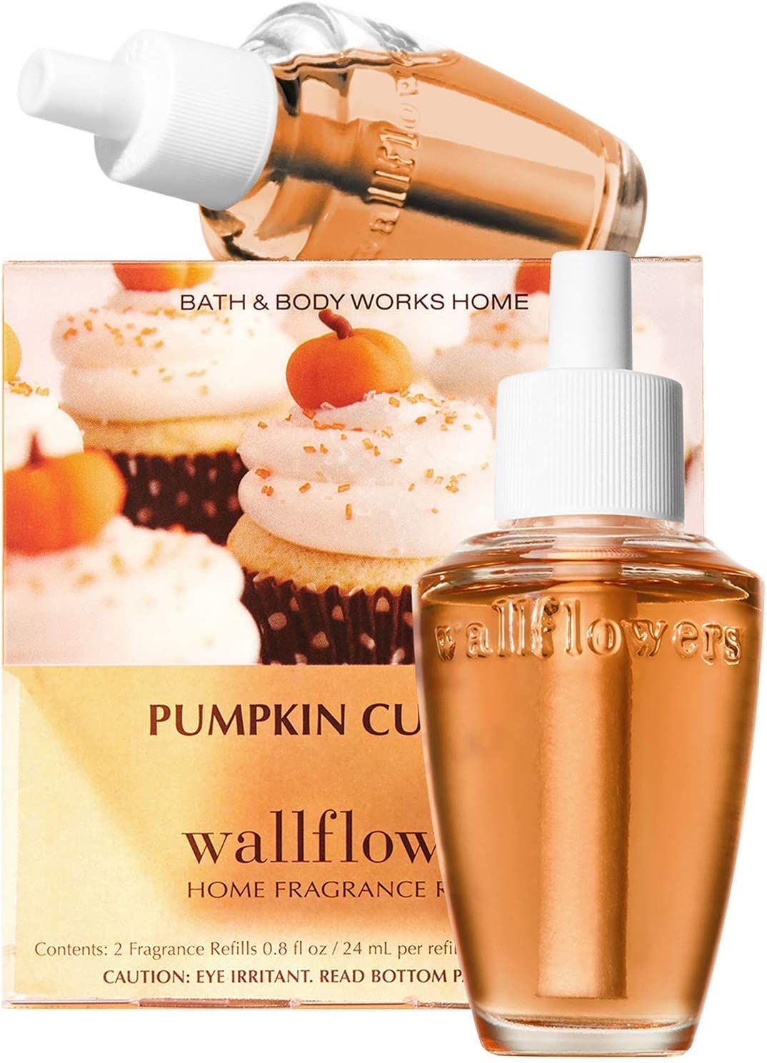 Bath & Body Works Pumpkin Cupcake Wallflowers Home Fragrance Refills, 2-Pack (1.6 fl oz total)