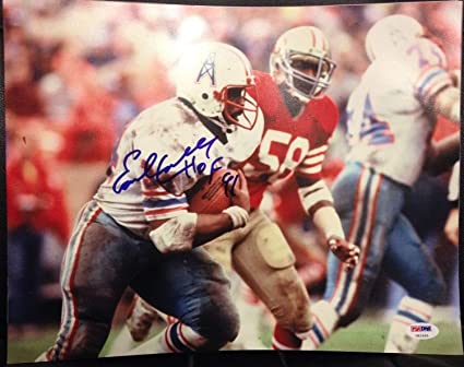 176f20499 Earl Campbell Hall of Fame 91 Autographed Signed Memorabilia Auto ...
