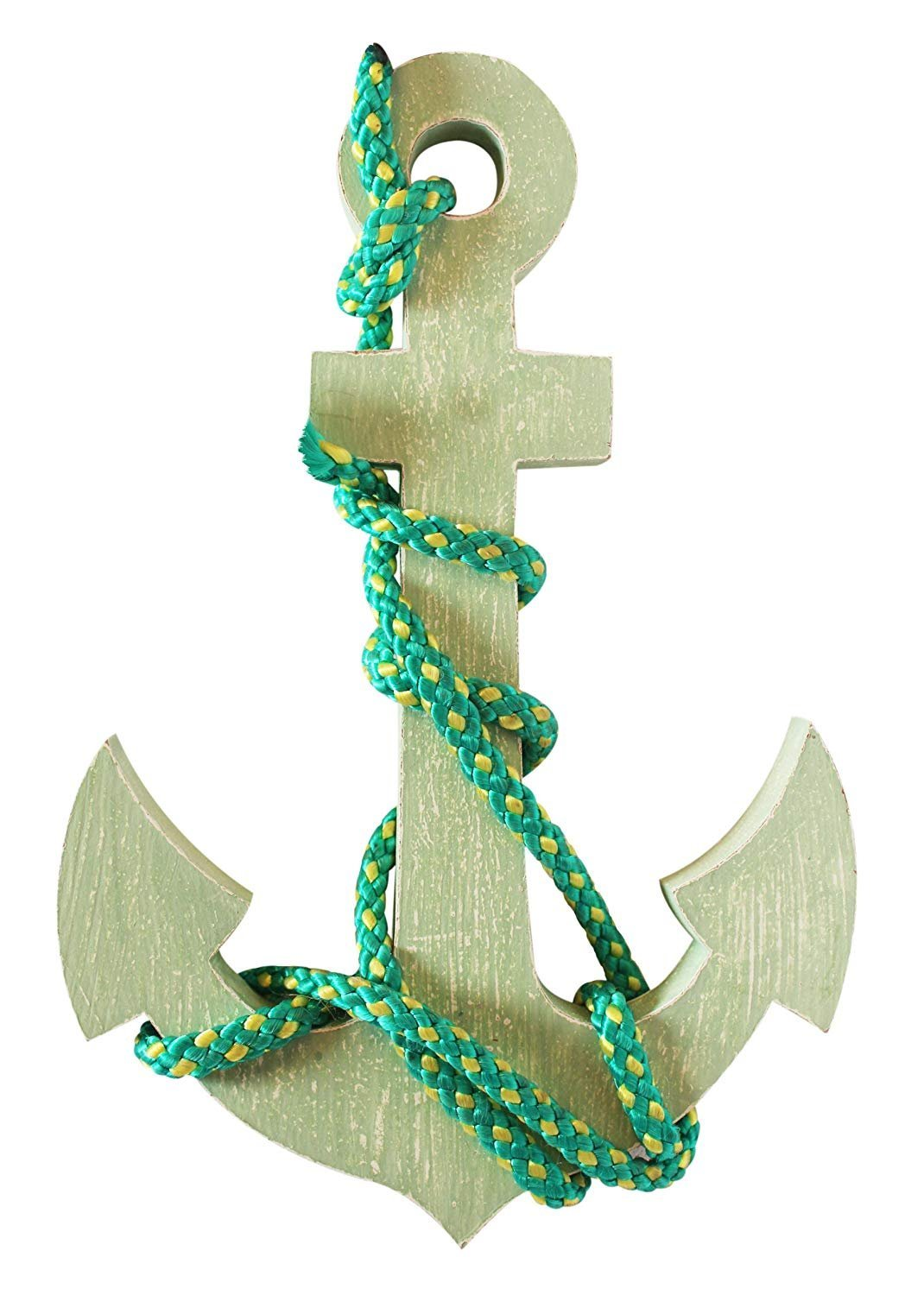 The StoreKing Wood Anchor with Rope Nautical Decor