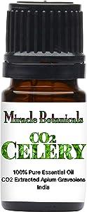 Miracle Botanicals CO2 Extracted Celery Essential Oil - 100% Pure Apium Graveolens - Therapeutic Grade - 5ml