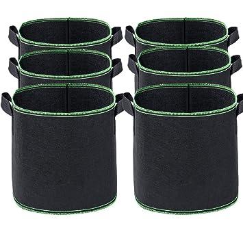 Abimars 6 Bolsas de Cultivo para Plantas, 5 galones de Tela ...
