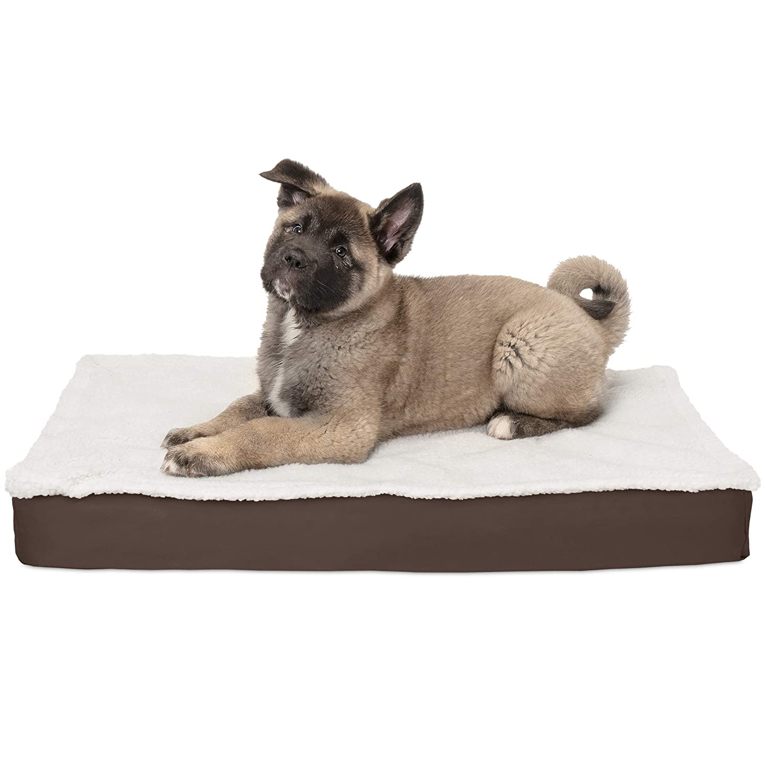 FurHaven Pet Dog Bed   Orthopedic Congreenible Pet Bed Mattress for Dogs & Cats, Espresso, Medium